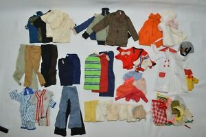 1960-70-039-s-LOT-of-46-Pieces-of-Barbie-Clothes-Pants-Shirts-Coats-etc