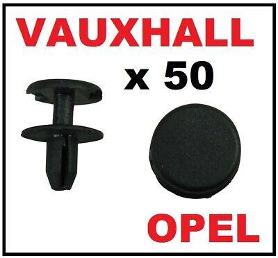 50x Opel Vauxhall Front Wheel Arch Wing Lining Splashguard Clips