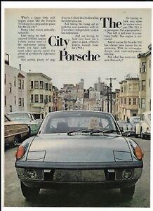 1973 Porsche 914 Print Ad~ San Francisco The City Porsche ~ Blonde Female Driver