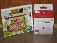 Nintendo Animal Crossing Happy Home Designer 3ds + Amiibo Card Reader Bundle Set