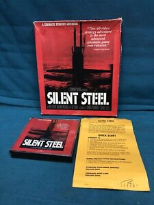 PC-CD-ROM-SILENT-STEEL-1995-Have-othCinematic-Video-Military-Submarine-Adventure