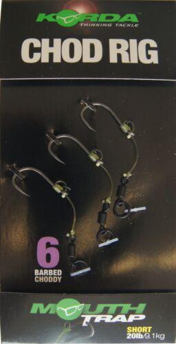 Chodrig 3 Karpfenrigs Korda Chod Rig Short 5cm Karpfenmontage