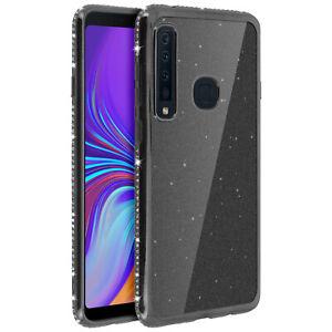 Glitter-Glam-Custodia-Copertura-di-protezione-per-Samsung-Galaxy-A9-2018-Nero