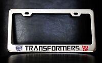 transformers License Plate Frame, Custom Made Of Chrome Plated Metal