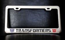 """TRANSFORMERS"" License Plate Frame, Custom Made of Chrome Plated Metal"