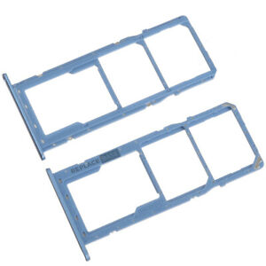 Dual SIM Card Tray For Samsung Galaxy A11 A115 Replacement Holder Slot Blue UK