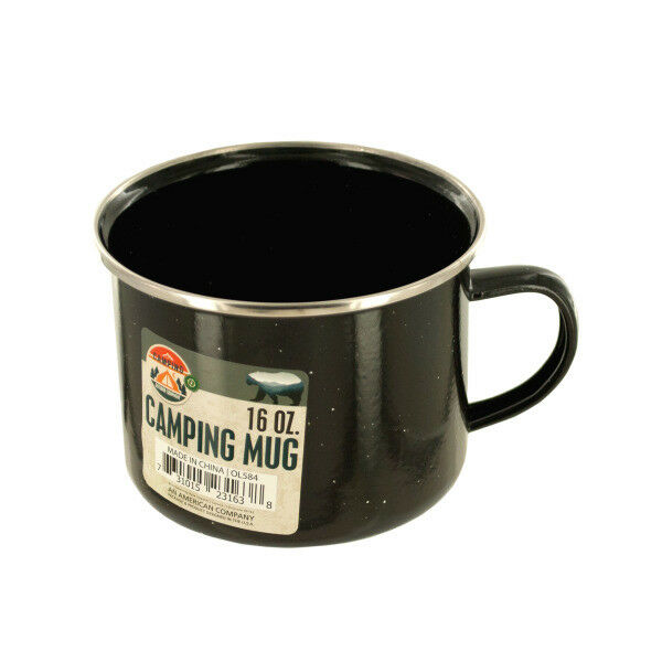 Set of 12 Bulk Lot 16 Oz. Enamel Camping Mug