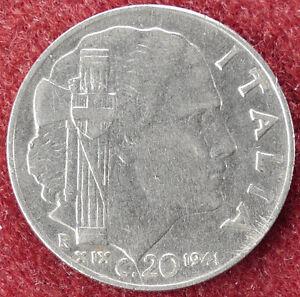 Italy-20-Centesimi-1941-Yr-19-D3004