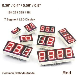0.4 inch Red 7 Segment LED Display Digital Tube 1//2//3//4 Bit Common Cathode//Anode