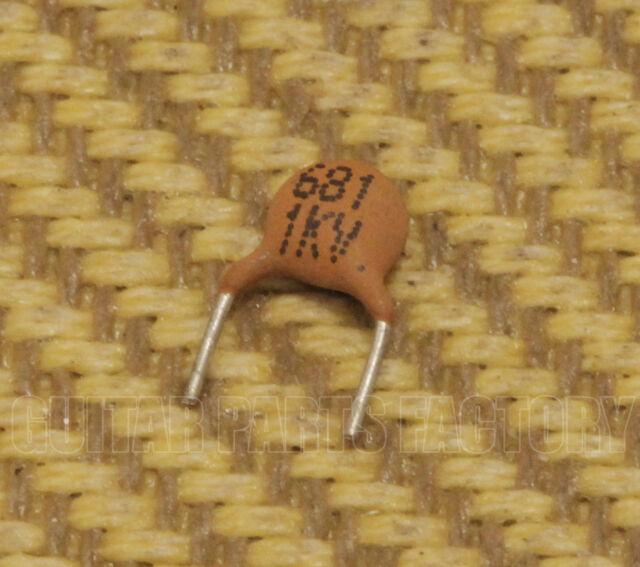 001-1435-002 Genuine Fender 680pF Guitar Capacitor 100V 10/% Treble Bleed
