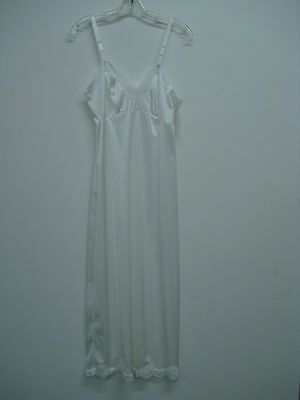 """Nwt Women's Usa Made Nancy King Lingerie 32"""" Full Dress Slip Size 34 White #125n To Suit The PeopleS Convenience Women's Clothing"""