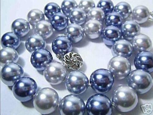 "54/"" 8 mm multicolore AAA South Sea Shell collier de perles j6 Long 25/"""