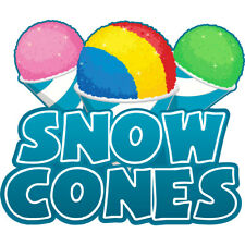 Snow Cones Concession Decal Sign Cart Trailer Stand Sticker Equipment