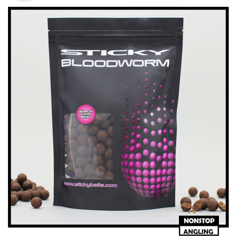 Sticky Baits - Bloodworm - Shelf Life Boilies - Carp Bait FREE DELIVERY