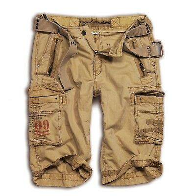 Hosengürtel gratis Shorts ROYAL Shorts Surplus Beige Army Bermuda US ARMY