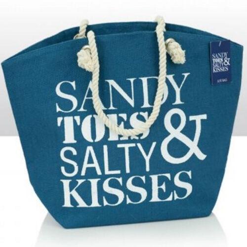 Nautical Jute Beach Bag Bathroom Storage Choice Of Designs