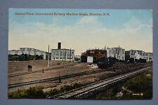 R&L Postcard: Canada Intercolonial Railway Machine Shops Sheds Moncton