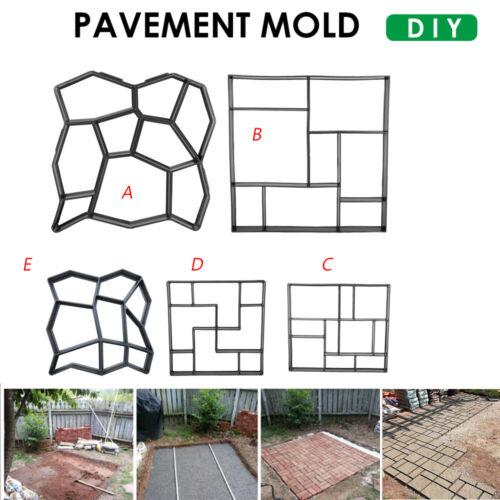 Paving Pavement Concrete Stepping Driveway Stone Path Mold Patio Maker Mould DIY