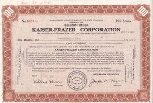 Kaiser-frazer Corporation 1949 Kataloge Werden Auf Anfrage Verschickt