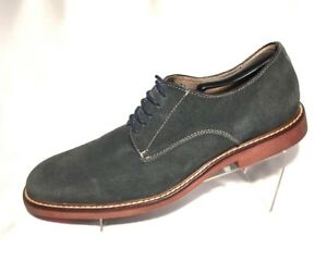 aston grey collection suede derby lace up blue gray casual