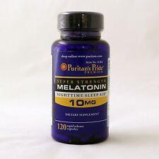Puritan's Pride Melatonin 10 mg 120 capsules sleep aid dietary supplement
