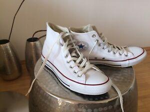 Details zu Converse Chuck Taylor All Star Schuhe, Chucks, Leder Boots, Weiß, Gr. 40