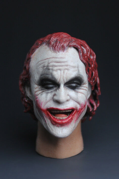 1 6 Scale The Joker Male Head Sculpt Red Hair Mould Head Model Toy Smile Ver.