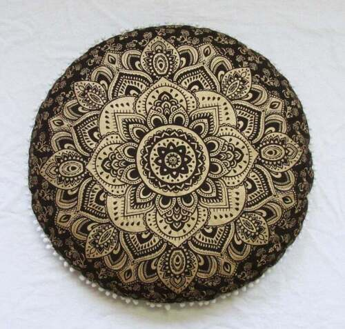 """Indian Ombre Mandala Floor Pillow Tapestry Meditation Cushion Cover Dog Bed 32/"""""""