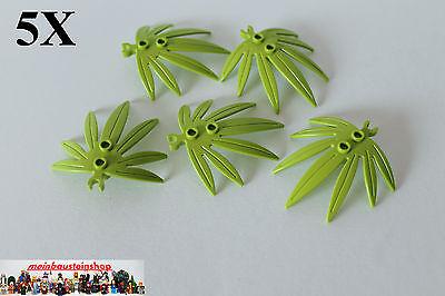 5x LEGO® Pflanzen Plant Palmenblatt Blätter 6x5 Lime 10884 NEU