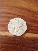 2006 Victoria Cross 50p Coin Man Heroic Act Starburst Vc