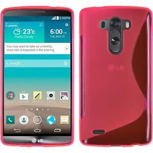 Custodia-LG-G3-S-Style-rosa-caldo-Cover-G3-in-silicone-pellicola-protettiva