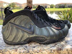 af25c755e8b66 Nike Air Foamposite Pro Men s Size 11 Sequoia Black Team Orange ...