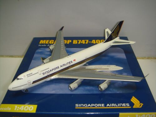"Herpa Wings 400 Singapore Airlines SQ B747400 ""1990s color Megatop"" 1400"
