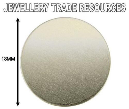 18mm x 1.0mm ROUND STERLING SILVER CIRCLE FLAT DISC FOR JEWELLERY MAKING