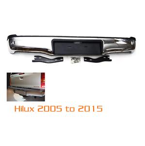Toyota-Hilux-Mk6-2005-11-Trasero-Parachoques-Trasero-Cromado-pasos-Hi-Lux-invencible-Vi-M44