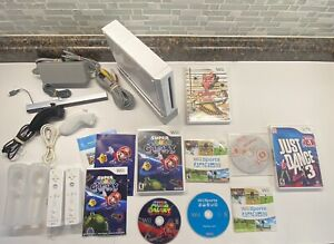 Nintendo Wii GameCube Compatible Wii Sports, Mario Galaxy 5 Game Bundle Dance 3