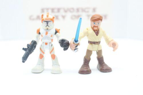 Playskool Star Wars Galactic Heroes Clone Wars Commander Cody Obi Wan Two Pack