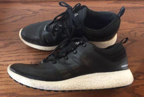 Adidas Rocket Blanco Hombres Boost Sz 10 Negro Clima 5 Tqqdr