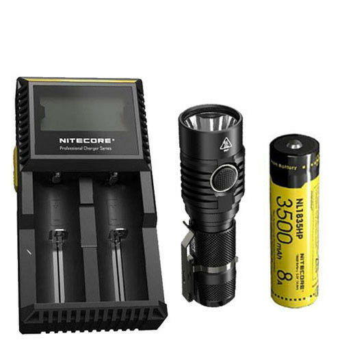 Combo  NITECORE MH23 Rechargeable Flashlight w  NL1835HP Battery & D2 Charger  sale online discount