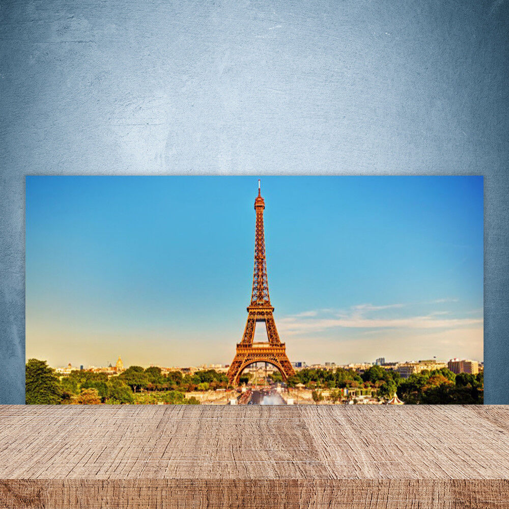 Crédence de cuisine en verre Panneau Paroi 100x50 Tour Eiffel Paris