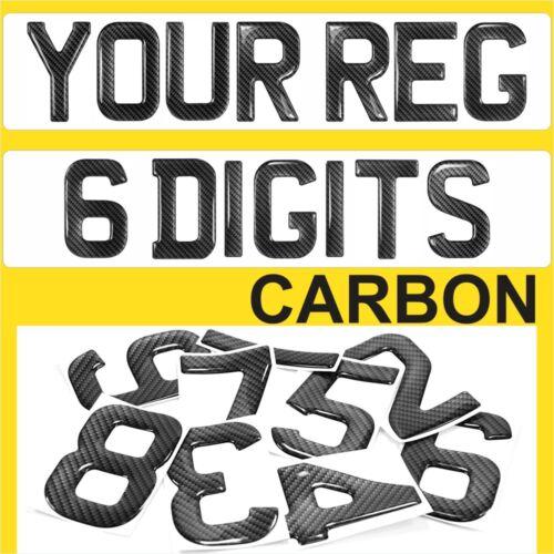 Gel Domed 3D Carbon Self Adhesive Number Plate Digit 9