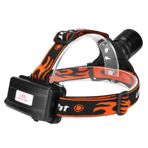 20000LM Focus LED USB Headlamp Torch Waterproof  Rechargeable Flashlight Outdoor
