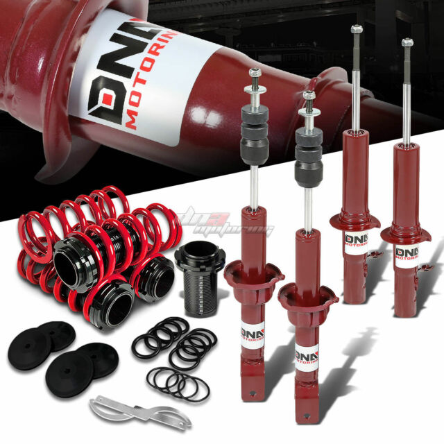 FOR 89-91 CIVIC RED PERFORMANCE STRUT/SHOCK SUSPENSION+SCALE COILOVER SPRING
