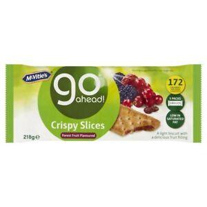 Go Ahead Sultana & Forest Fruit Crispy Slice 218g