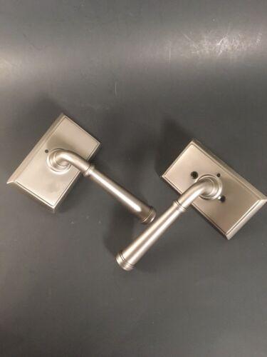 Emtek Pewter Merrimack Lever Door Privacy Lock Rectangular Rosette RH 8221 US15A