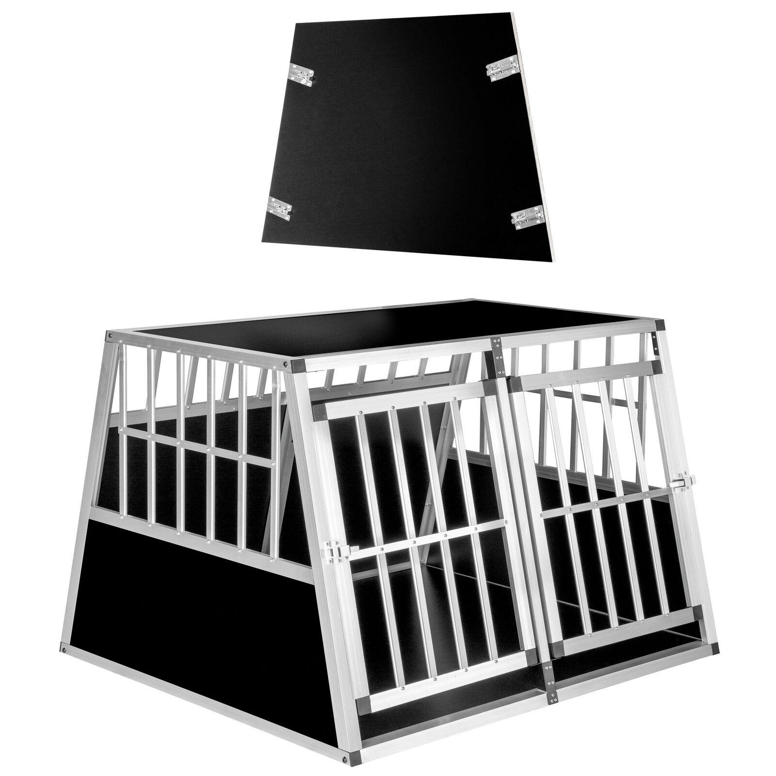 XXL Cage box box box caisse de transport alu trapézoïdal voiture + cloison de séparation 114ebb