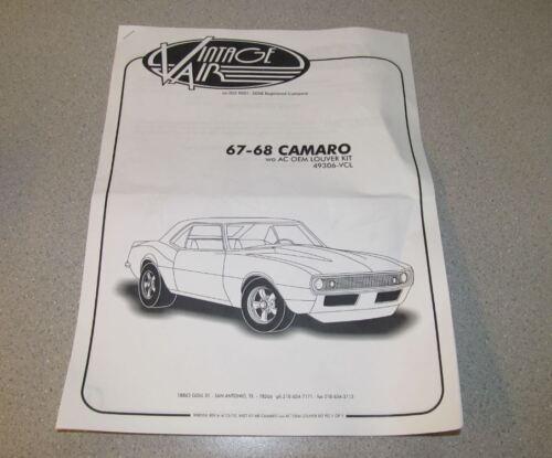 1967-68 Camaro//Firebird Astro Vents Vintage Air 49306-VCL