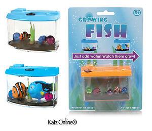 Kids magic growing fish in aquarium toy pet tank christmas for Toy fish tank