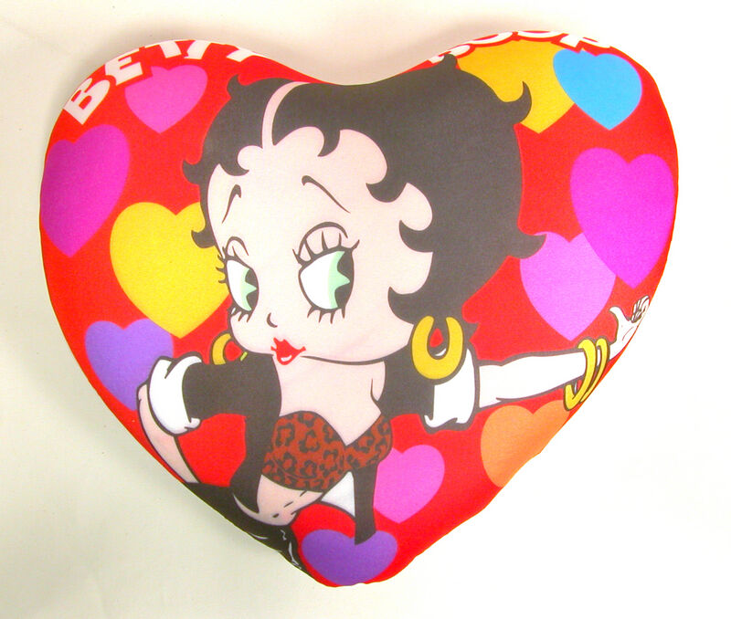 "Very Cute Betty Boop 14/"" Microbead Pillow Biker"
