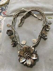 Vintage-Floral-Sterling-Silver-Necklace-Very-Detailed-and-Gorgeous